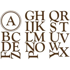<strong>WallPops!</strong> Sheets Durham Monogram and Alphabet Wall Decal