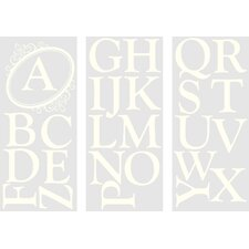 <strong>WallPops!</strong> Sheets Southampton Ivory Monogram and Alphabet Wall Decal