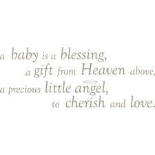 A Baby is a Blessing Baby Wall Wishes Decal