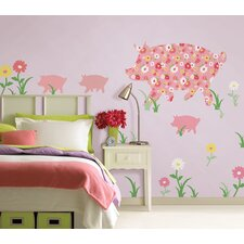 ZooWallogy Scarlett The Pig Wall Decal