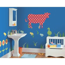 <strong>WallPops!</strong> ZooWallogy Dakota The Cow Wall Decal