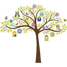 Wall Art Owl Tree Wall Decal Kit