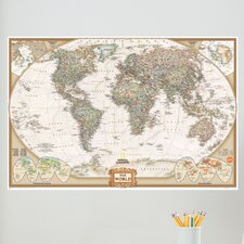 Wall Art Kit National Geographic World Map Wall Decal