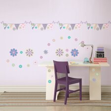 <strong>WallPops!</strong> Kids Patchwork Daisy Blox and Stripe Wall Decal