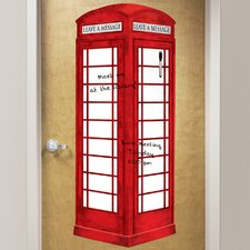 Dry Erase London Phone Booth Giant Wall Decal