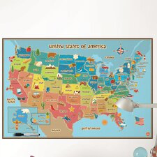 Dry Erase Kids USA Map Wall Decal