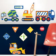 Wall Art Construction Zone Wall Decal Kit