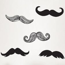 Wall Art Mustache Small Wall Decal Kit