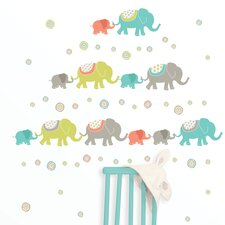Art Kit Tag Along Elephants Wall Decal