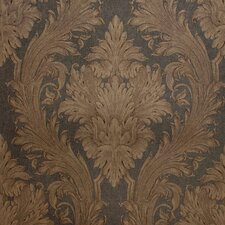 <strong>Brewster Home Fashions</strong> Savoy Toile Linen Damask Wallpaper