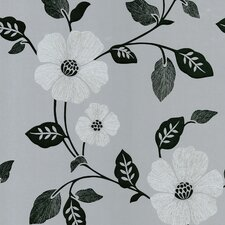 Ink Veined Floral Wallpaper
