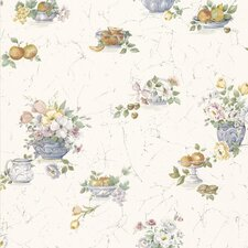 <strong>Brewster Home Fashions</strong> Kitchen and Bath Resource II Fruit and Floral Wallpaper