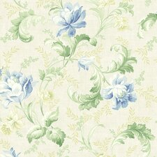 <strong>Brewster Home Fashions</strong> Willow Cottage Tulip Trail Wallpaper
