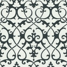 <strong>Brewster Home Fashions</strong> Ink Ironwork Trellis Wallpaper