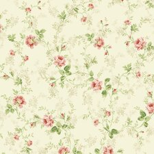 <strong>Brewster Home Fashions</strong> Willow Cottage Floral Trail Wallpaper