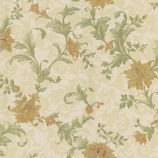 <strong>Brewster Home Fashions</strong> Mirage Signature V Jacobean Scroll Embossed Wallpaper
