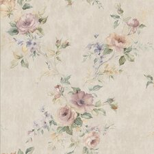 <strong>Brewster Home Fashions</strong> Kitchen and Bath Resource II Floral Trail Embossed Wallpaper