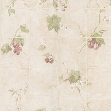 <strong>Brewster Home Fashions</strong> Kitchen and Bath Resource II Vine Tile Wallpaper