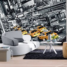 <strong>Brewster Home Fashions</strong> Ideal Decor Cabs Queue Large Wall Mural