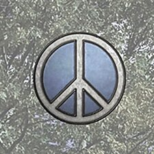 Peace Sign Stained Appliqué Window Sticker
