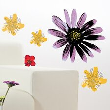 <strong>Brewster Home Fashions</strong> Spirit Painted Flowers Wall Decal