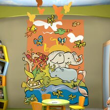 <strong>Brewster Home Fashions</strong> Ultimate Wild Animal Cut Wall Mural