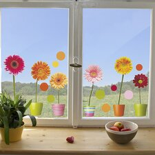 Euro Gerberas Window Sticker