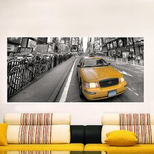 <strong>Brewster Home Fashions</strong> Euro Taxi Panoramic Wall Decal