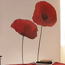 Euro Poppies Wall Decal