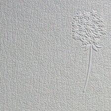 Anaglypta Paintable Dandelion Embossed Wallpaper