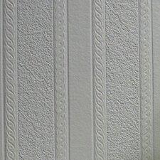 Anaglypta Paintable Blarney Marble Stripe Embossed Wallpaper