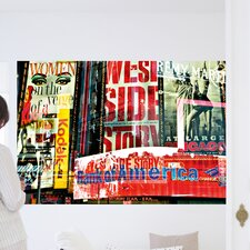 Ideal Decor Times Square Neon Stories Wall Mural