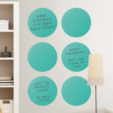 WallPops Dot Whiteboard Wall Decal (Set of 6)