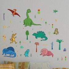 Euro Dinosaurs Wall Decal