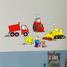 Euro Under Construction Wall Decal