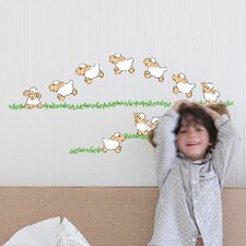 Euro Jumping Sheep Wall Decal