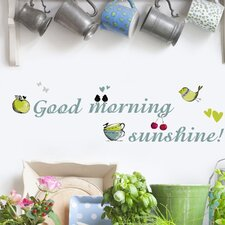 Euro Good Morning Sunshine Wall Decal