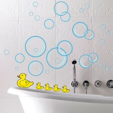 Euro Bubble Ducks Wall Decal