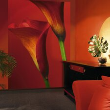 Ideal Decor Calla Lillies Wall Mural