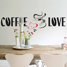 <strong>Brewster Home Fashions</strong> Euro Coffee Love Wall Decal