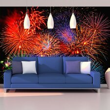 <strong>Brewster Home Fashions</strong> Ideal Décor Fireworks Wall Mural