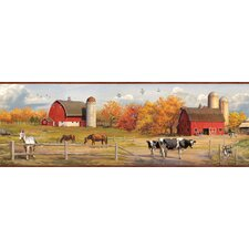 Borders by Chesapeake Jonny American Farmer Portrait Scenic Wallpaper Border