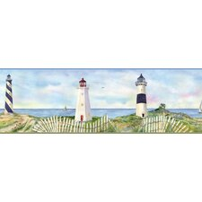 Borders by Chesapeake Eugene Coastal Lighthouse Portrait Scenic Border Wallpaper