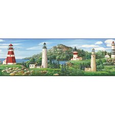 Borders by Chesapeake Gilead Lake Lighthouse Portrait Scenic Border Wallpaper