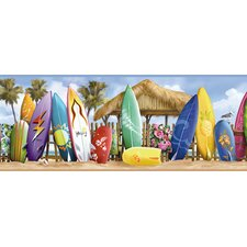 Borders by Chesapeake Cowabunga Surfside Portrait Scenic Border Wallpaper