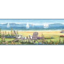 Borders by Chesapeake Regatta Seaside Cottage Portrait Border Wallpaper