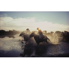 National Geographic Horses in Water Wall Mural