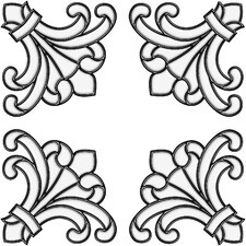 <strong>Brewster Home Fashions</strong> Medici Corners Stained Glass Appliqué Window Sticker