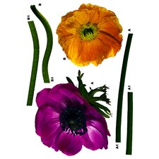<strong>Brewster Home Fashions</strong> Komar Freestyle Anemone Wall Decal
