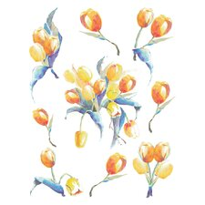 <strong>Brewster Home Fashions</strong> Spirit Tulipe Wall Decal